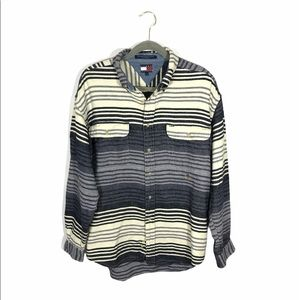 Tommy Hilfiger Stripped Flannel 100% Cotton Large